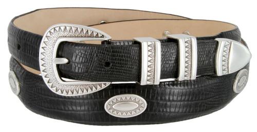 Black Mesa Italian Calfskin Genuine Leather Designer Dress Conchos Belt