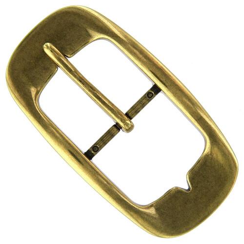 "AC0161 Replacement Belt Buckle fits 1-1/2""(38mm) wide Belt Strap -Antique Vintage Center Bar (Antique Brass)"