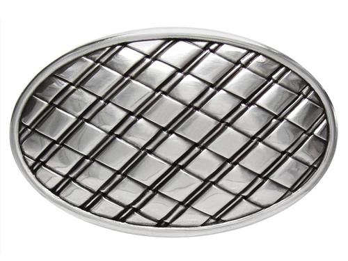 """Unique Oval Buckle Antique Silver Engraved Basket Weave Belt Buckle Fits 1-1/2""""(38mm) Wide Belt"""