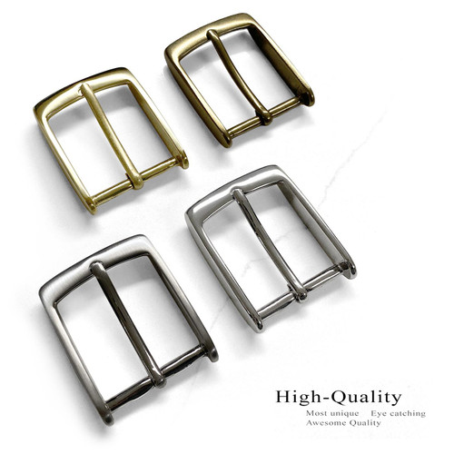 "Solid Brass Buckle Classic Casual Dress Belt Buckle fits 1-3/8"" (35mm) Wide Belt"