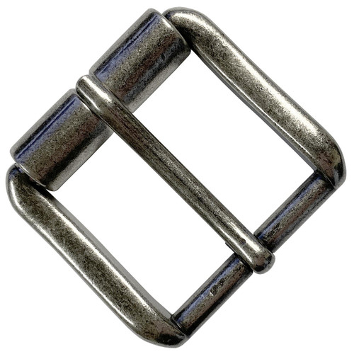 """T3265 Antique Silver Classic Roller Buckle fits 1-1/2""""(38mm) Wide Belt Strap"""