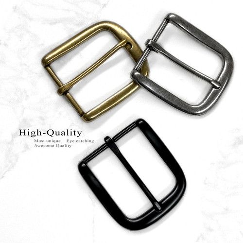 "Classic Single Prong Belt Buckle fits 1-1/2""(38mm) Belt Strap"