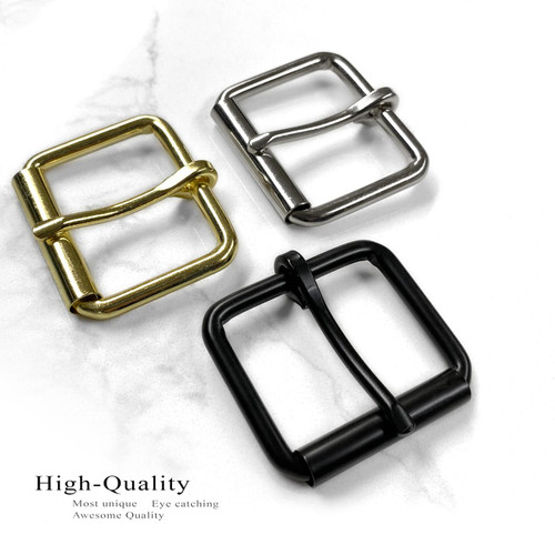 """Replacement Roller Buckle Classic Casual Metal Belt Buckle fits 1-1/2"""" (38mm) Belt"""
