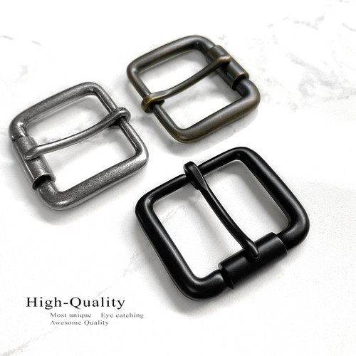 """P3456 Replacement Roller Buckle Classic Casual Metal Belt Buckle fits 1-1/2"""" (38mm) Belt"""