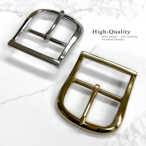 9946 Solid Brass Buckle Replacement Center Bar Single Prong Buckle
