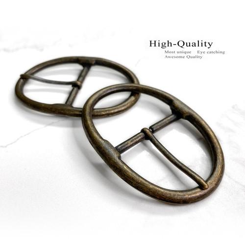 "JT6028 Classic Center Bar Buckle Fits 1-3/4""(45mm) Wide Belt- (Antique Gold)"