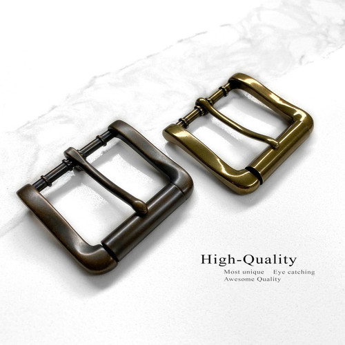 "P4317 Classic Single Prong Roller Belt Buckle Fits 1-1/2""(38mm) Wide Belt"