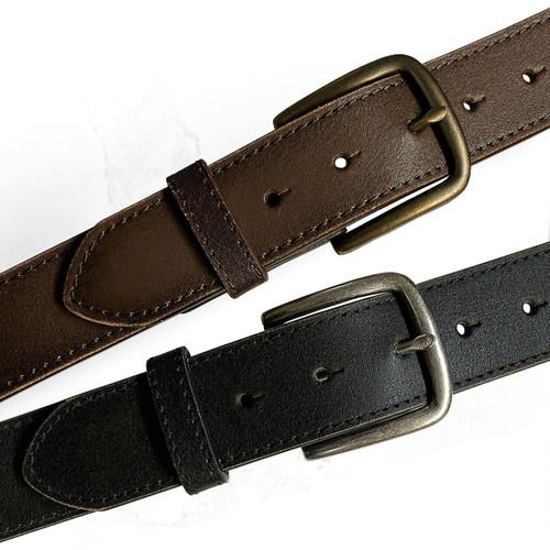 "JT11082 Vintage Classic Buckle Casual Jean Belt Genuine Leather Belt 1-1/2""(38mm) Wide"