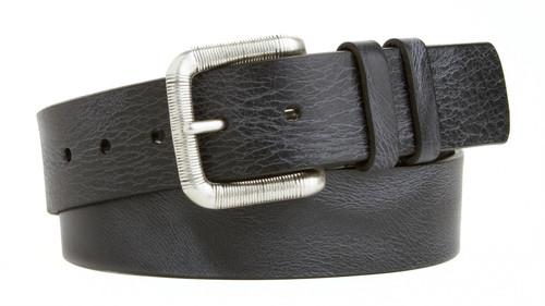"Lejon Made in USA Belt Men's Vintage Italian Saddle Leather Casual Jean Belt 1-1/2""(38mm) Wide"