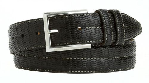 """Lejon Made in USA Belt Men's Dress Genuine Italian Calfskin Leather Belt 1-3/8""""(35mm) Wide"""
