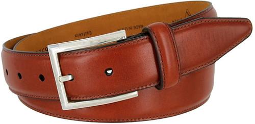 """Lejon Made in USA Belt Italian Calfskin Leather Casual Dress Belt 1-3/8""""(35mm) Wide"""
