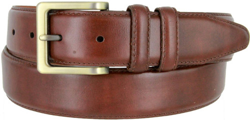 """UN-1536 Lejon Made in USA Belt Genuine Italian Calfskin Leather Casual Dress Belt 1-3/8""""(35mm) Wide"""