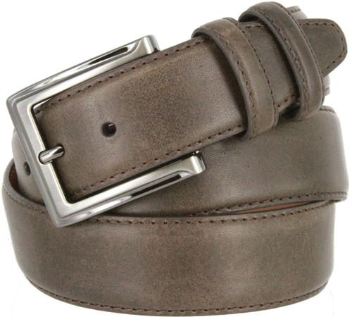 """Lejon 2042 Made in USA Belt Genuine Italian Calfskin Leather Casual Dress Belt 1-3/8""""(35mm) Wide"""