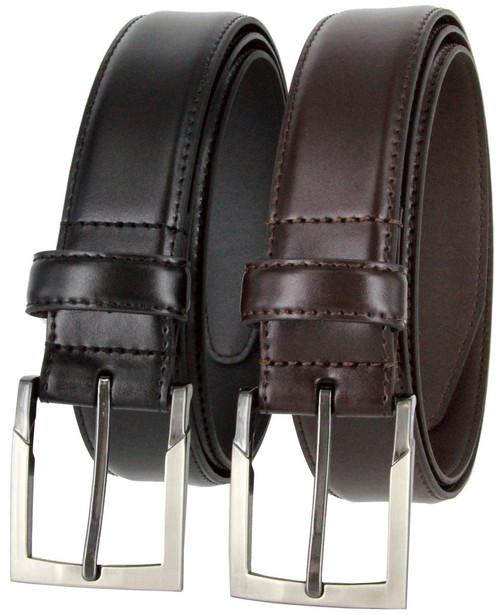 """Lejon Made in USA Belt Genuine Italian Calfskin Leather Dress Casual Belt 1-3/8""""(35mm) Wide"""