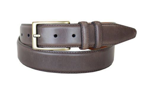 """Lejon Made in USA Belt Genuine Smooth Leather Casual Dress Belt 1-3/8""""(35mm) Wide"""