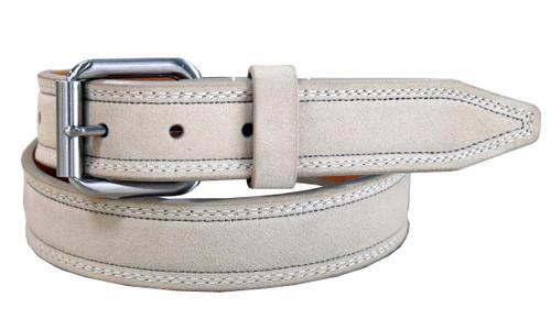 "Remo Tulliani Belt Genuine Suede Leather Casual Dress Belt 1-3/8""(35mm) Wide"