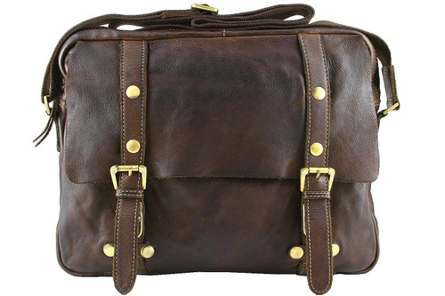 Fashion Classic Vintage Genuine Full Leather Casual Shoulder Messenger Cross Bag