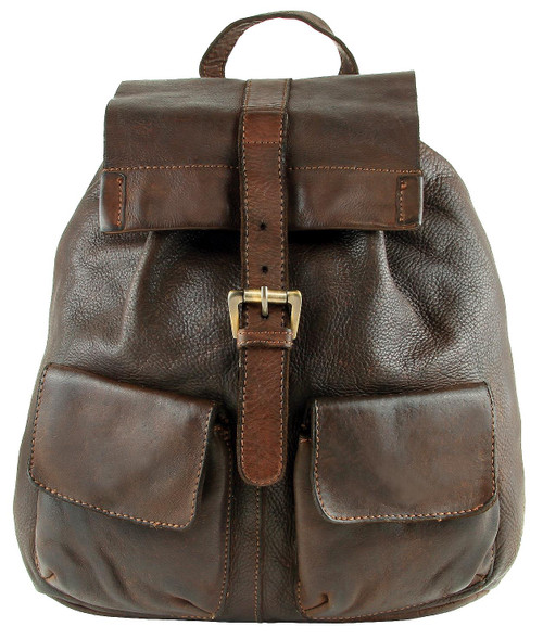 Fashion Classic Vintage Genuine Full Leather Casual Shoulder Travel Backpack