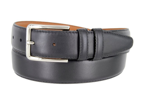 """Lejon Made in USA Belt Smooth Genuine Leather Casual Dress Belt 1-3/8""""(35mm) Wide"""