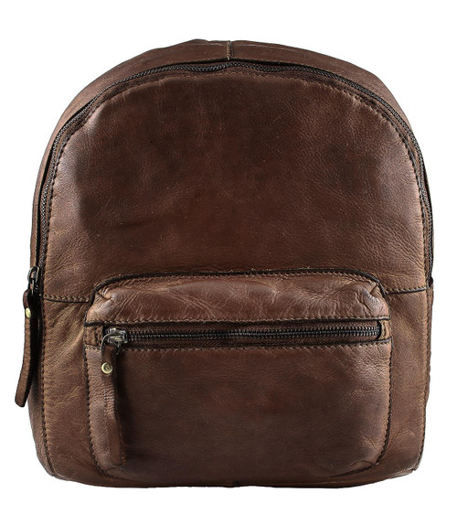 Fashion Classic Vintage Genuine Full Leather Shoulder Casual Travel Backpack