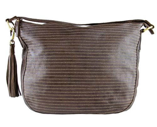 Fashion Classic Vintage Genuine Full Leather Casual Shoulder Hobo Bag