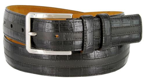 "Lejon Made in USA Men's Dress Belt Captain's Table Italian Calfskin Leather Dress Belt 1-3/8""(35mm) Wide"