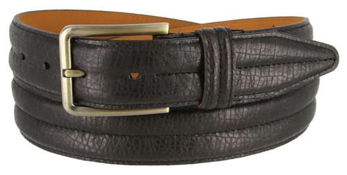 "Lejon Made in USA Men's Dress Belt Heritage Leather Casual Belt 1-3/8""(35mm) Wide"
