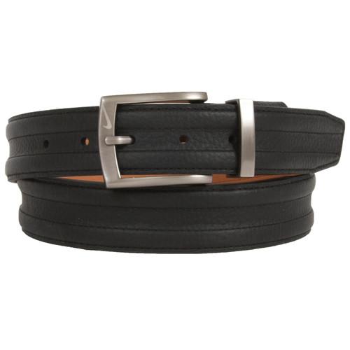 "Nike Belt Basic Tripunto G-Flex Belt Genuine Leather Golf Casual Belt 1-3/8""(35mm) Wide"