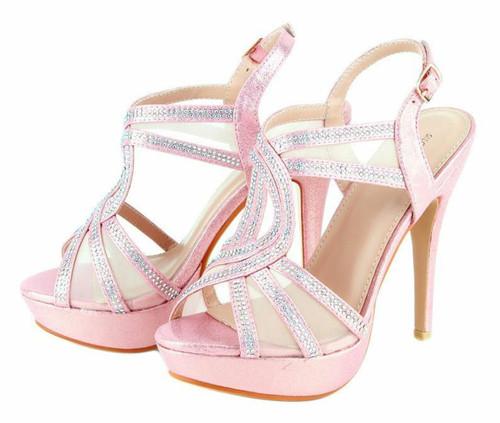 Women's Mesh Crystal Rhinestone Fashion High Heels