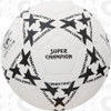 Super Champion Soccer Ball, White/Black, 32 Panel, Hand Sewn
