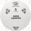 Super Champion Soccer Ball, White - 18 Panel, Hand Sewn