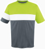 Fairfax Jersey, Charcoal/Lime-White