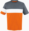 Fairfax Jersey, Orange/Charcoal-White