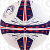 Fusion soccer ball, White/Navy-Red