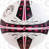 Fusion soccer ball, White/Black-Raspberry