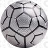Bergamo soccer ball, Silver/Black