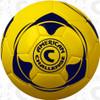 Apex 90 soccer ball, Highlighter Yellow/Navy Blue