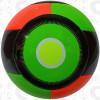 Nevel Soccer Ball, Orange/Lime-Black