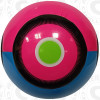 Nevel Soccer Ball, Raspberry/Aqua-Black