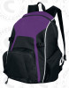 Real Backpack, Purple/Black-White