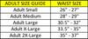 Patriot compression shorts, Size Guide