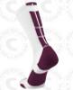 Baseline 3.0 sock - White/Maroon