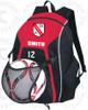 Little Neck Douglaston Backpack, Red/Black/White