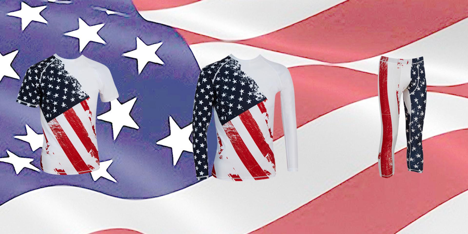 Compression apparel on Flag