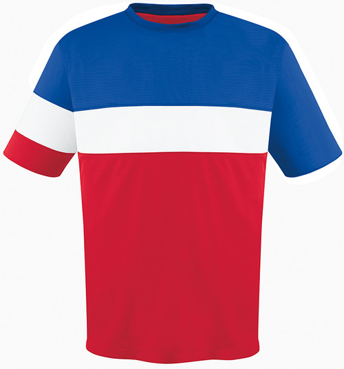 Fairfax Jersey, Red/Royal-White