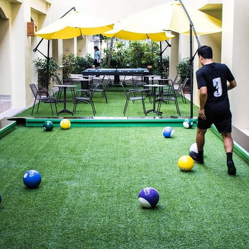 The Billiard Balls being used in Thailand; Phuket Marriott Resort and Spa, Merlin Beach