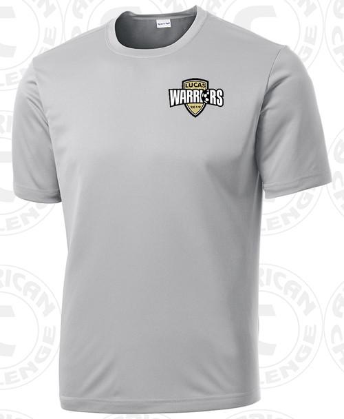 Lucas Christian Academy PE Shirt, Silver