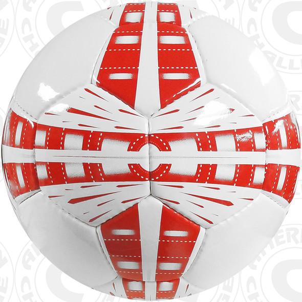 World Cup Soccer Ball, White/Red