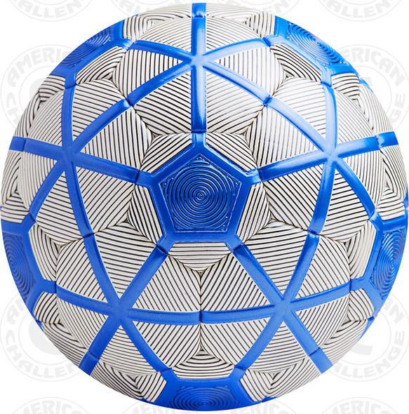 Turin soccer Ball, White/Black-Blue