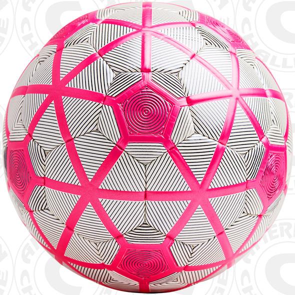 Turin soccer Ball, White/Black-Raspberry